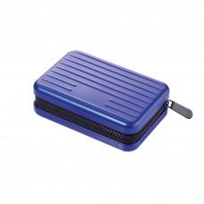 Футляр для кредитных карт с защитой, голубой