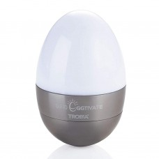 Светильник-ночник Troika Eggtivate, с датчиком вибрации, стальной