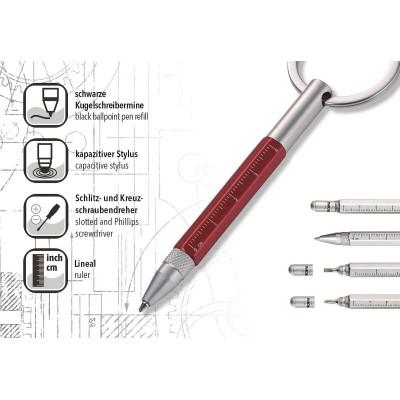 Ручка-брелок Troika Micro Construction красная