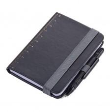 Блокнот Troika Lilipad A7 + ручка Liliput, черный