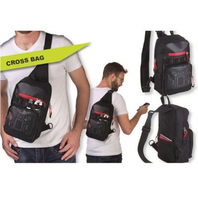 """Рюкзак через плечо Troika """"CROSS BAG"""" чёрный"""