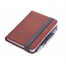 Блокнот Din A7 Lilipad + ручка Liliput, коричневый