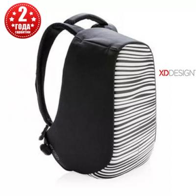 """Рюкзак антивор городской XD Design Bobby Compact 14"""", Zebra (P705.651)"""