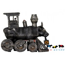 Коллекционная статуэтка корова Moo Choo-All Aboard!