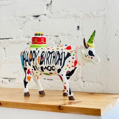 Коллекционная статуэтка корова Happy Birthday, Size L