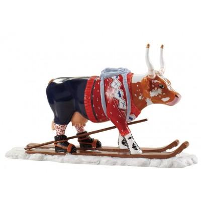 Коллекционная статуэтка корова Ski Cow - aka Loypelin Lauslam