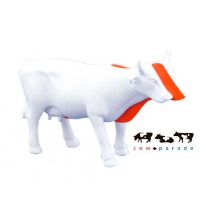 Коллекционная статуэтка корова Kow белая с красной полосой