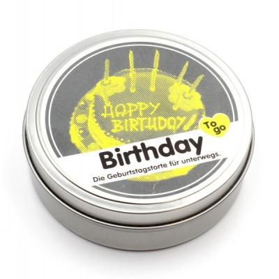 """Свеча """"Happy Birthday"""" в металлической баночке"""