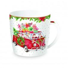 "Чашка ""Санта за рулем"" , фарфор"