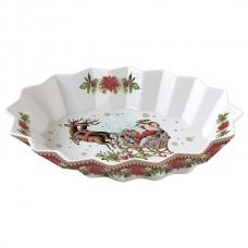 """Блюдо овальное """"Винтажное Рождество"""" , фарфор"""