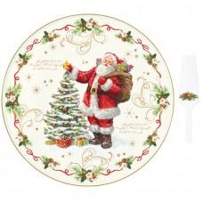 """Блюдо для подачи с лопаткой  """"Волшебное рождество"""", фарфор"""