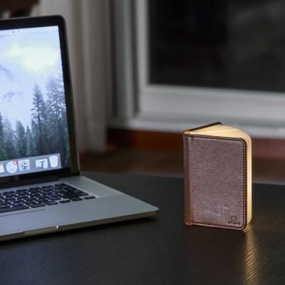 """Светильник-книга """"Smart Book"""" мини, натуральная кожа"""