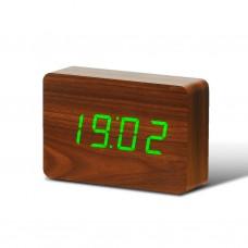"Смарт-будильник с термометром ""BRICK"", коричневый"