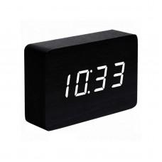 """Смарт-будильник с термометром """"BRICK"""", черный"""