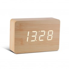 "Смарт-будильник с термометром ""BRICK"", дерево береза"