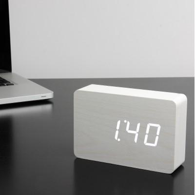 "Смарт-будильник с термометром ""BRICK"", белый"