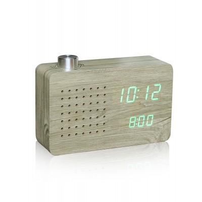 "Смарт-будильник + FM-радио ""ASH RADIO"", дерево"