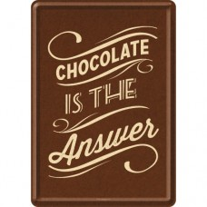 "Открытка ""Chocolate is the Answer"" Nostalgic Art (10247)"