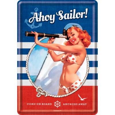 """Открытка """"Pin Up - Ahoy Sailor"""" Nostalgic Art (10272)"""