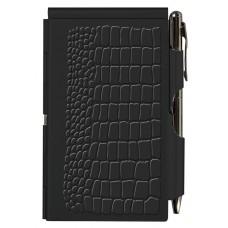 Карманный блокнот с ручкой Black Croc