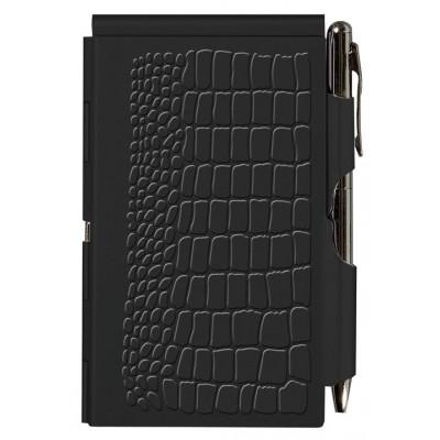 """Карманный блокнот с ручкой """"Black Croc"""""""