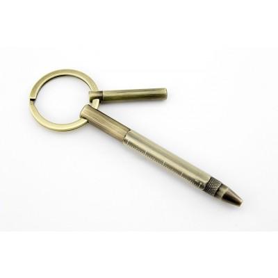 Ручка-брелок Troika Micro Construction Pro золотая