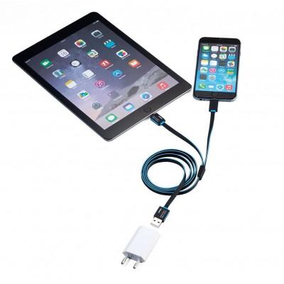Зарядный кабель Apple lighting для двух устройств, белый
