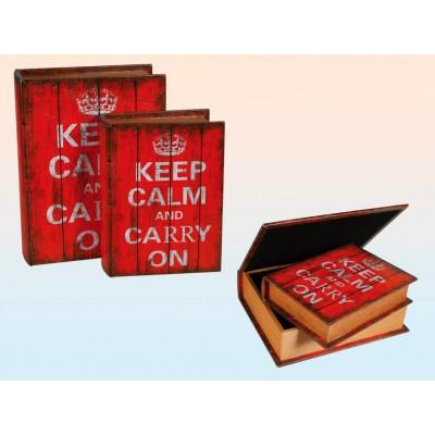 """Сейф-книга """"Keep calm and Carry on""""(26 см)"""