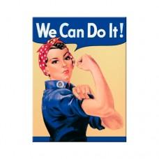 """Магнит 8x6 см """"We can do it"""" Nostalgic Art (14001#)"""