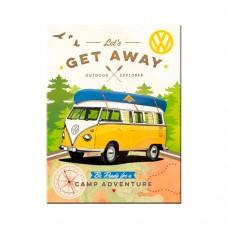 "Магнит 8x6 см ""Volkswagen - VW Bulli - Let's Get Away!"" Nostalgic Art (14330)"