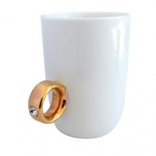 """Чашка """"Золотое кольцо"""", белая"""