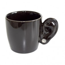 """Чашка """"Ухо"""", черная"""