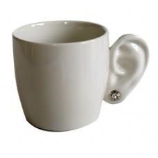 """Чашка """"Ухо"""", белая"""