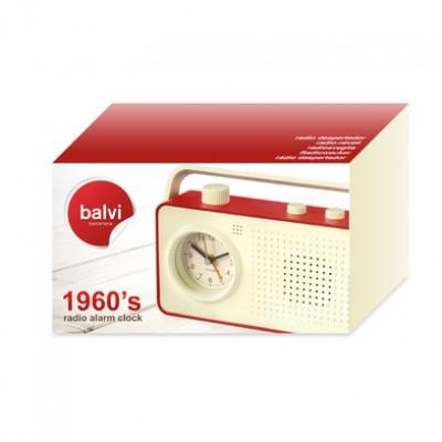 Радио-будильник Balvi 1960's красный
