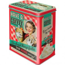"Коробка для хранения L""Say it 50's - Have A Coffee"" Nostalgic Art (30123)"