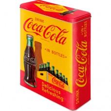 "Коробка для хранения XL""Coca-Cola - In Bottles Yellow"""