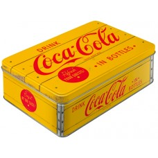 "Коробка для хранения ""Coca-Cola - Logo Yellow"" Nostalgic Art (30725)"