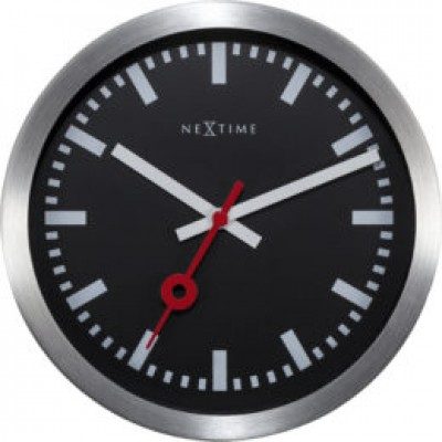 "Часы настенные ""Station"", черные"