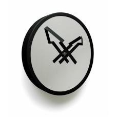 """Часы настенные """"Стрелы"""", черные"""