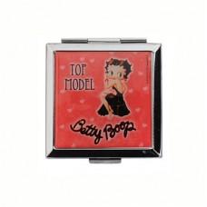 """Зеркало карманное """"Betty Boop"""", красное"""