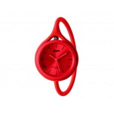 Часы универсальные Lexon Take Time с ремешком из силикона, красные