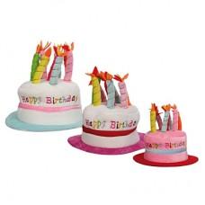 """Шапка """"Happy Birthday"""", голубая"""
