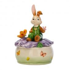 Музыкальная шкатулка с кроликом 17 см
