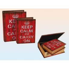 "Сейф-книга ""Keep calm and Carry on"" (21 см)"