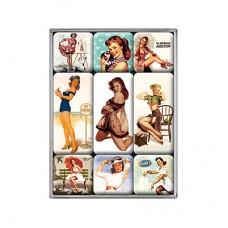 """Набор из 9 магнитов """"Горячие девушки"""" Nostalgic Art (83019)"""