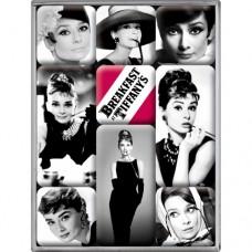 """Набор из 9 магнитов """"Audrey Hepburn"""" Nostalgic Art (83040)"""