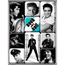 """Набор из 9 магнитов """"Elvis"""" Nostalgic Art (83041)"""