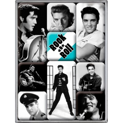 """Набор из 9 магнитов """"Elvis"""""""