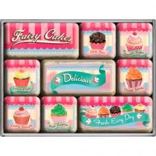 "Набор из 9 магнитов ""Fairy Cakes - Delicious"" Nostalgic Art (83055)"