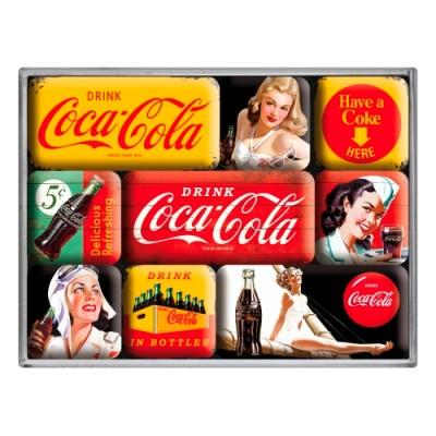 """Набор из 9 магнитов """"Coca-Cola - Yellow Mix"""""""